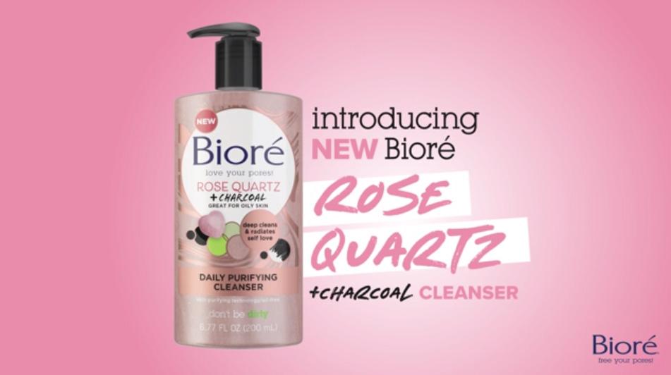Introducing the Bioré Rose Quartz + Charcoal Collection