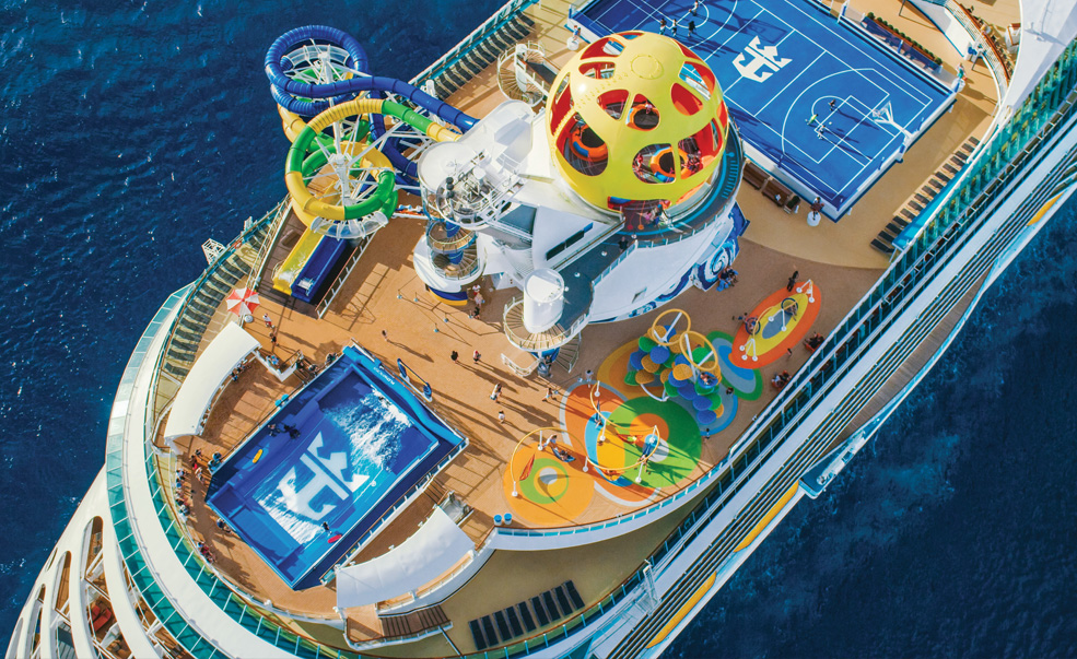 The amplified Mariner of the Seas delivers a lineup of adventures for every traveler, from Sky Pad – a virtual reality, bungee trampoline experience – to the tiki-chic watering hole, The Bamboo Room; glow-in-the-dark laser tag; and racer waterslides.