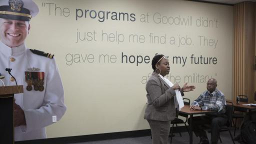 Goodwill is proud to help our nation's veterans transition to new careers with employment training, financial stability tools, and other community-based programs.