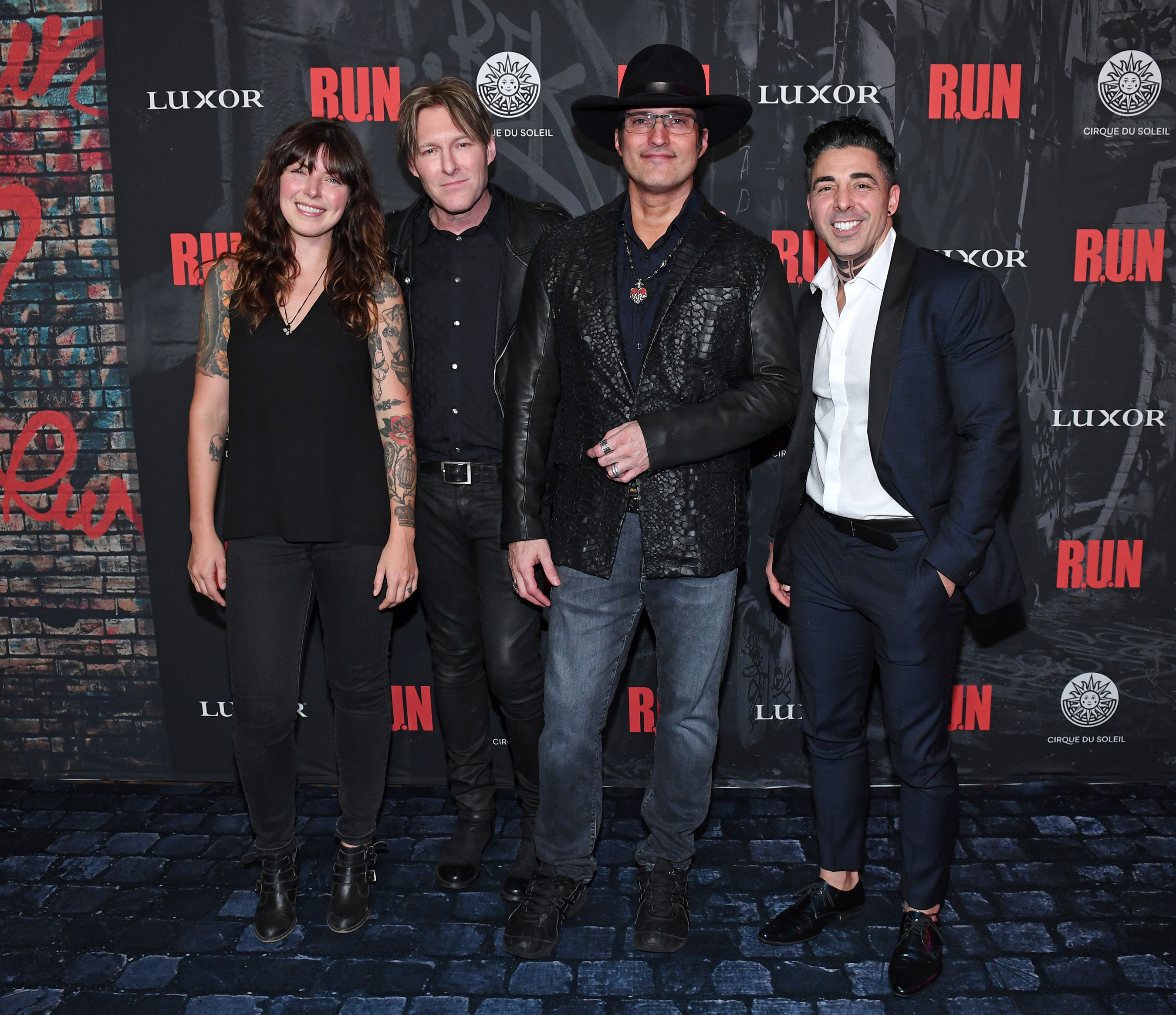 (L-R), Alexis Krauss, Tyler Bates, Robert Rodriguez and Michael Schwandt at World Premiere of R.U.N, Nov. 14