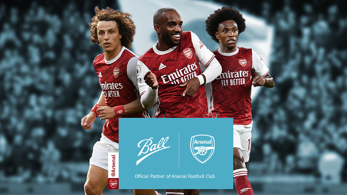Ball & Arsenal Partnership (Players left-to-right: David Luiz, Alexandre Lacazette, Willian)