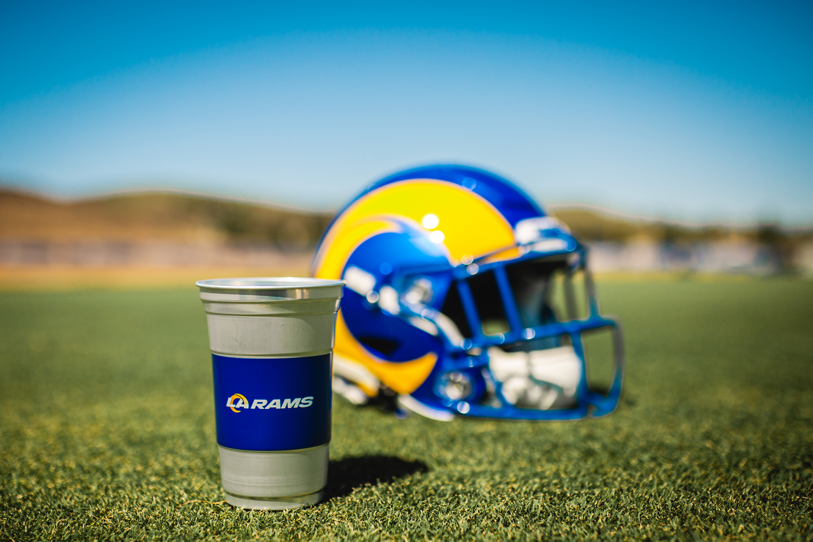 Los Angeles Rams Ball Aluminum Cup