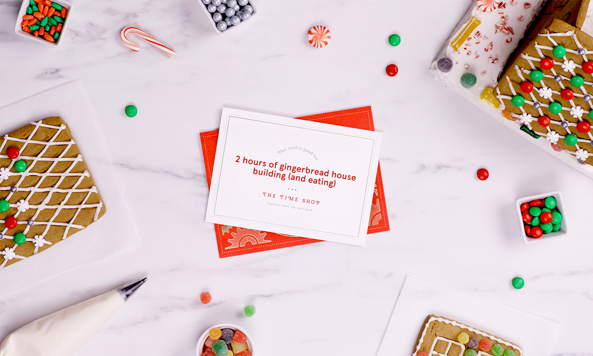 Give the gift of time this holiday season. Anyone can personalize a Time Card through chick-fil-a.com/timeshop and have the card printed and mailed, free of charge.