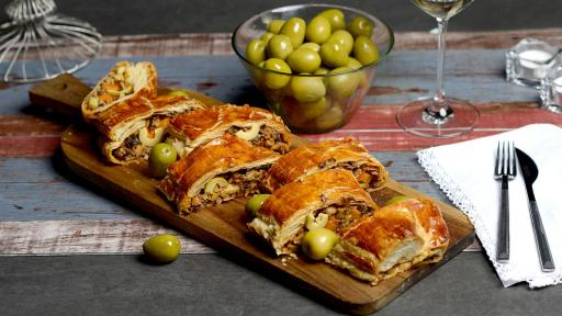 image of olives;thanksgiving;vegan wellington