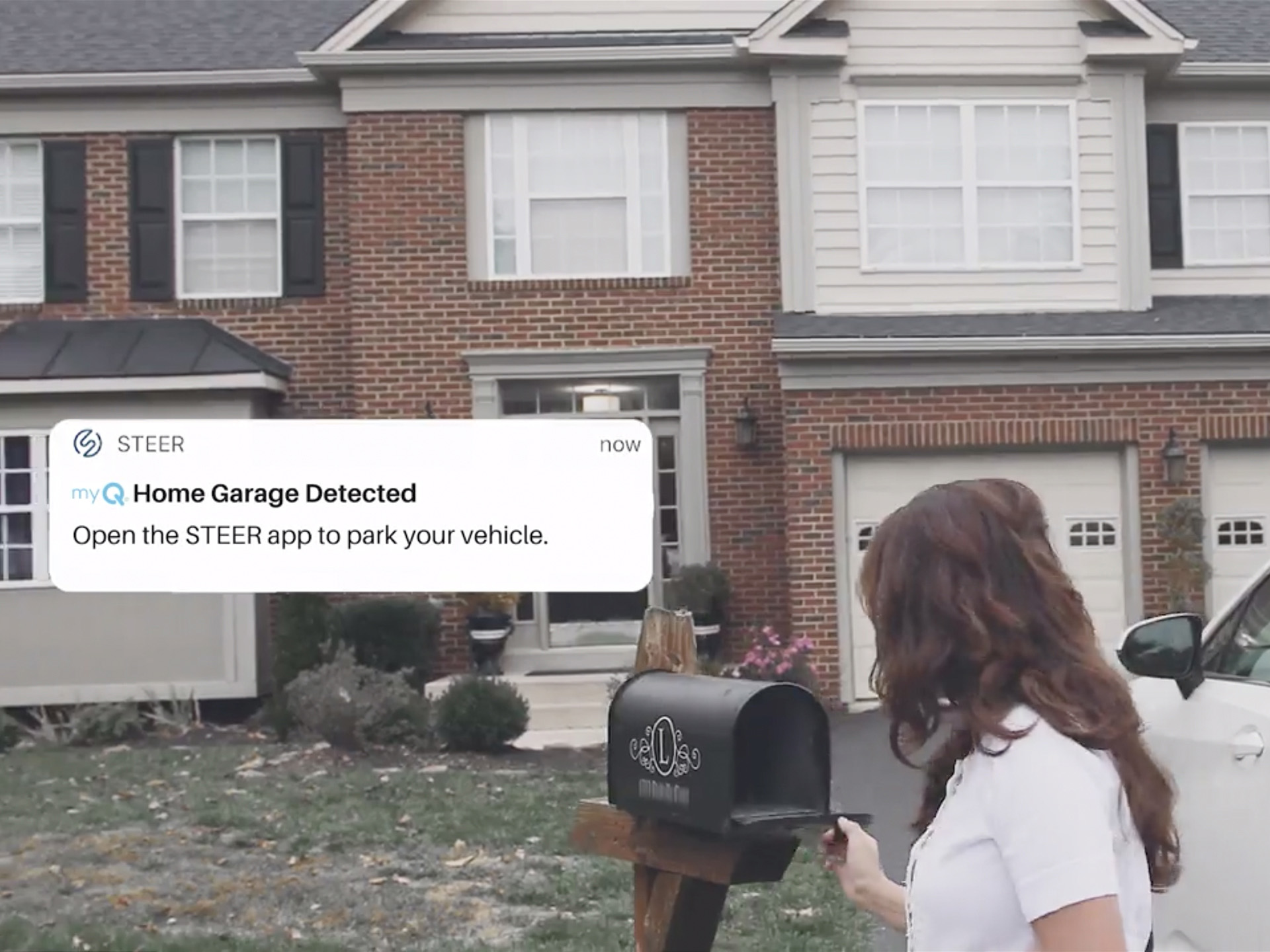 CGI's myQ® Auto™ (https://www.chamberlain.com/about-chamberlain/automotive-connectivity-solutions) solution and STEER's autonomous parking technology provides self-parking capabilities to homeowners with a myQ smart garage.