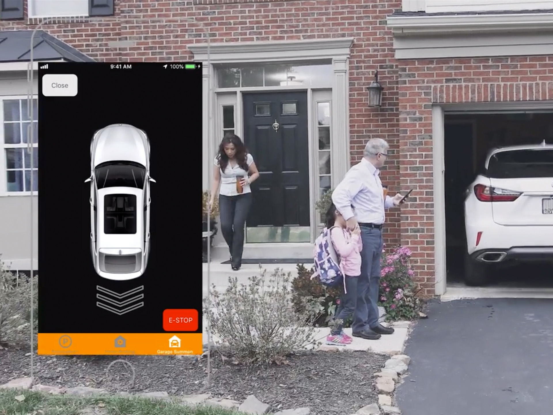 With STEER's autonomous park and summon features, homeowners no longer have to worry about having enough space to get in and out of the car while inside the garage.