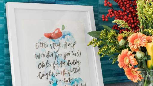 A chili's inspired poem in a decorative frame