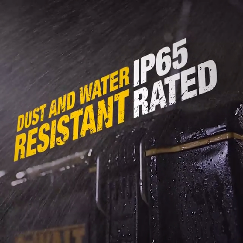 Visible IP 65 seal for dust and water resistance