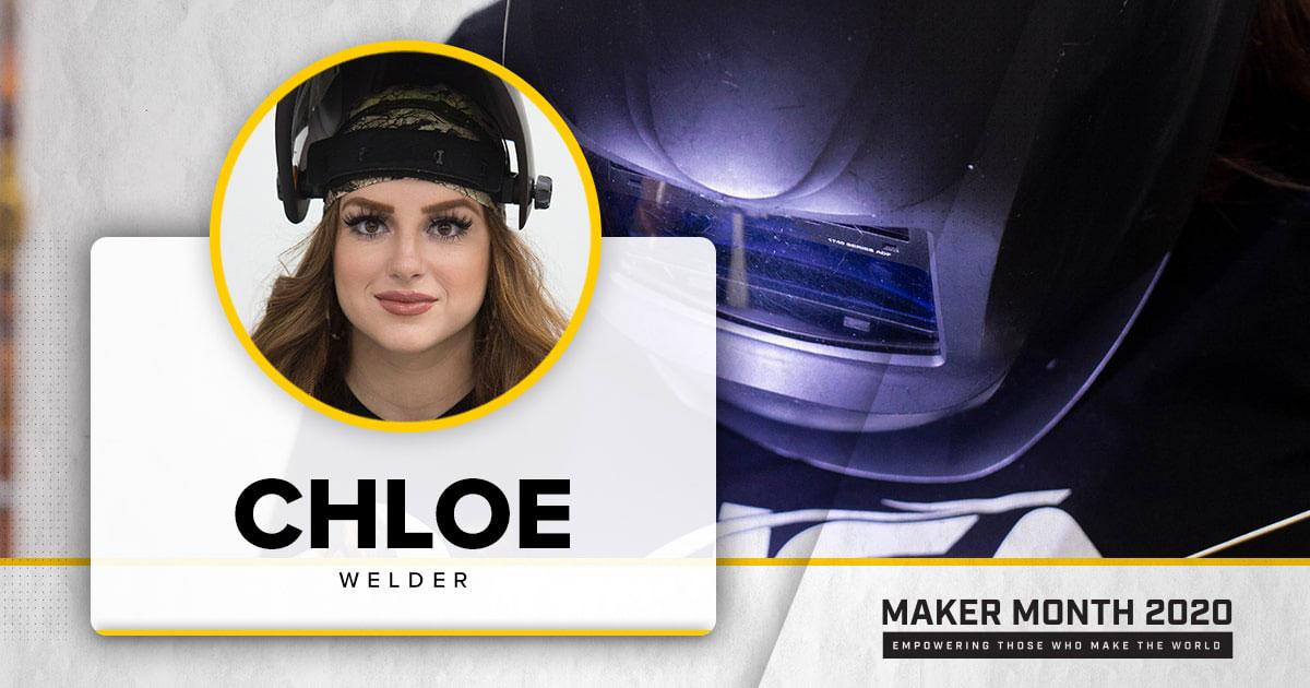 Meet Our 31 Makers: Chloe, Welder