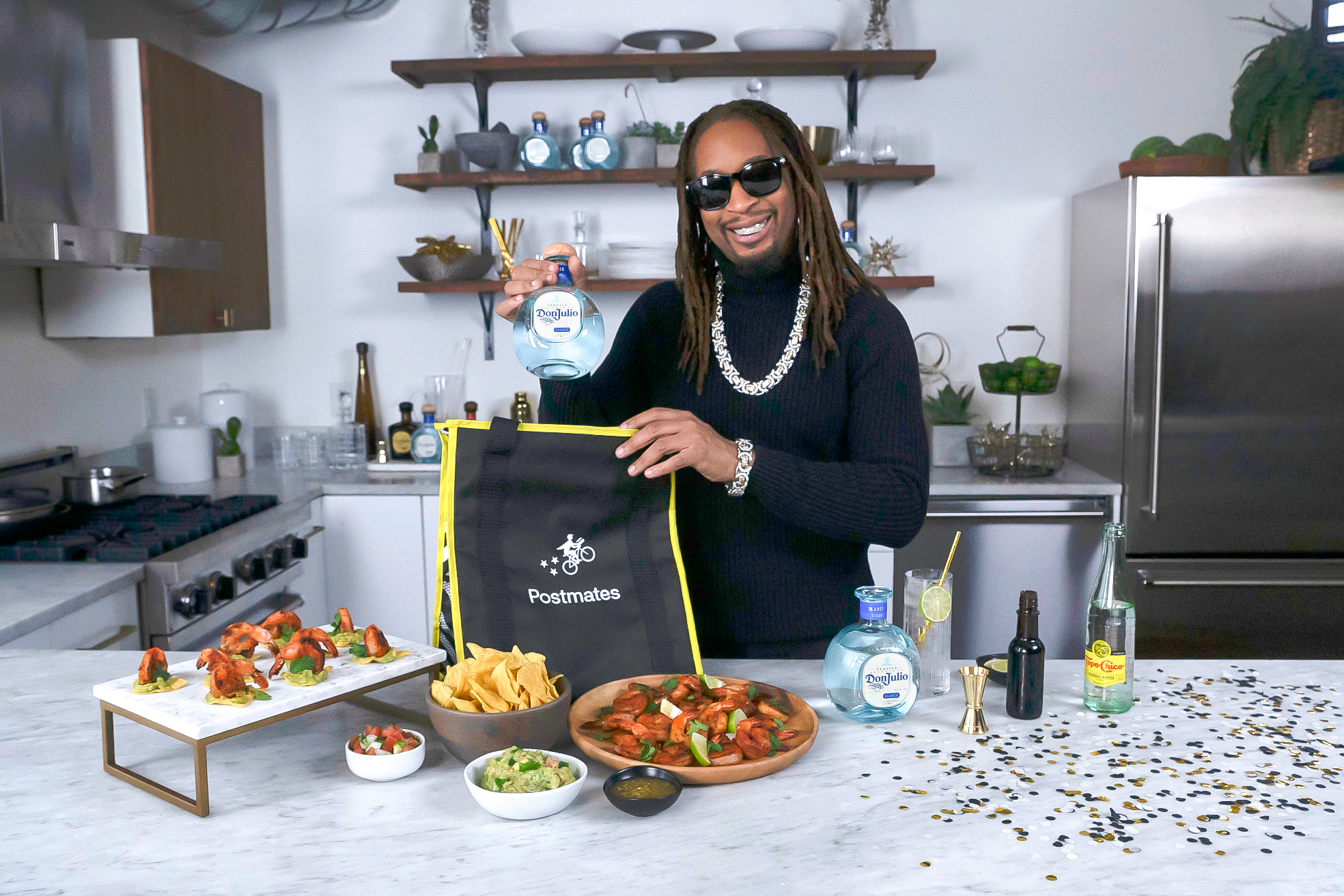 Tequila Don Julio partners with Postmates to create limited-edition Party Packs to help you Celebrate Like a Don with Lil Jon