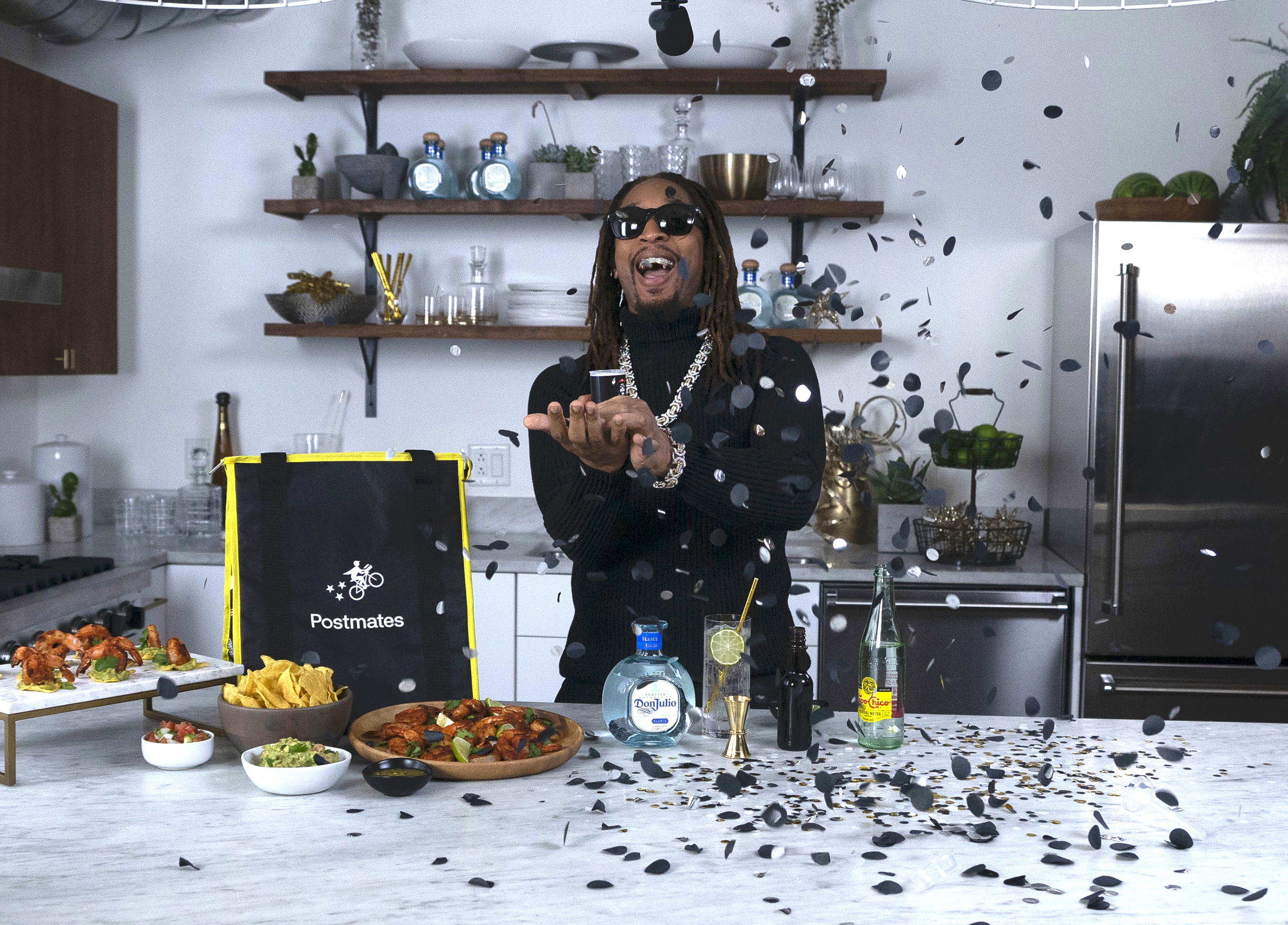 Lil Jon Celebrating with the New Year's Eve Don Julio Party Pack from Postmates