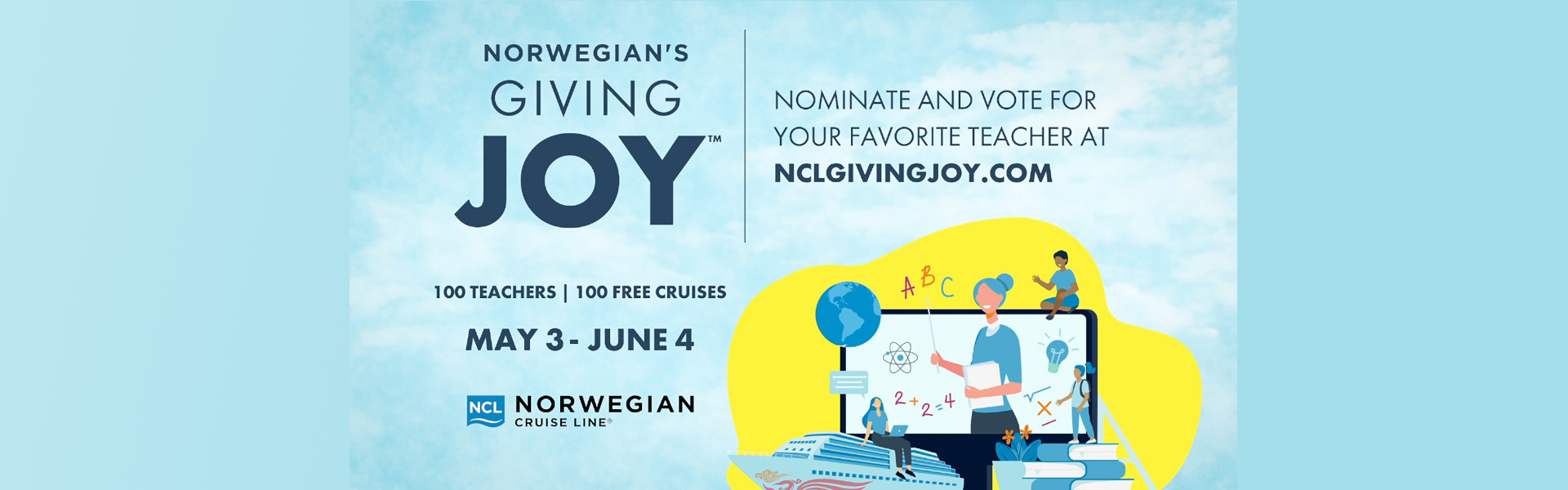 """挪威游轮排队庆祝教师欣赏周,以美国和加拿大的教育工作者""""赐予"""""""