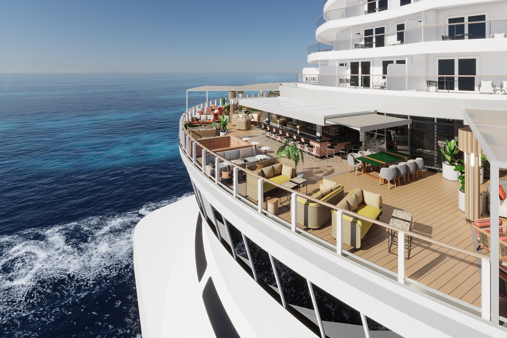Upscale outdoor dining experiences with Norwegian Cruise Line's Indulge Food Hall on Norwegian Prima – the Brand's first-ever upscale open-air marketplace.