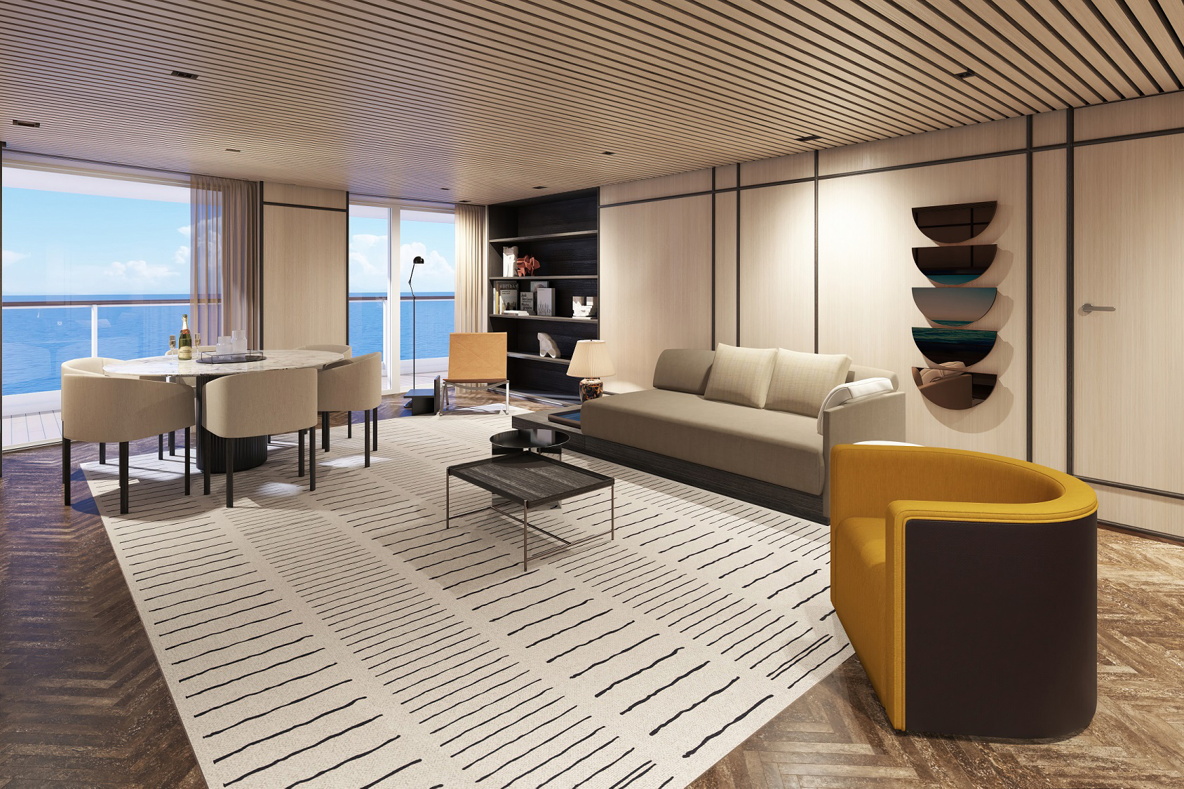 Norwegian Prima will offer the largest variety of suite categories available at sea with 13 suite categories as well as the largest three-bedroom suites of any new cruise ship.