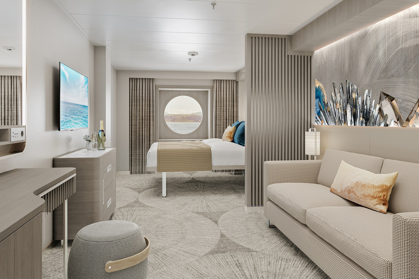 Norwegian Prima will offer the Brand's largest-ever inside, oceanview and balcony staterooms, including the Brand's largest-ever bathrooms and showers for standard stateroom categories.