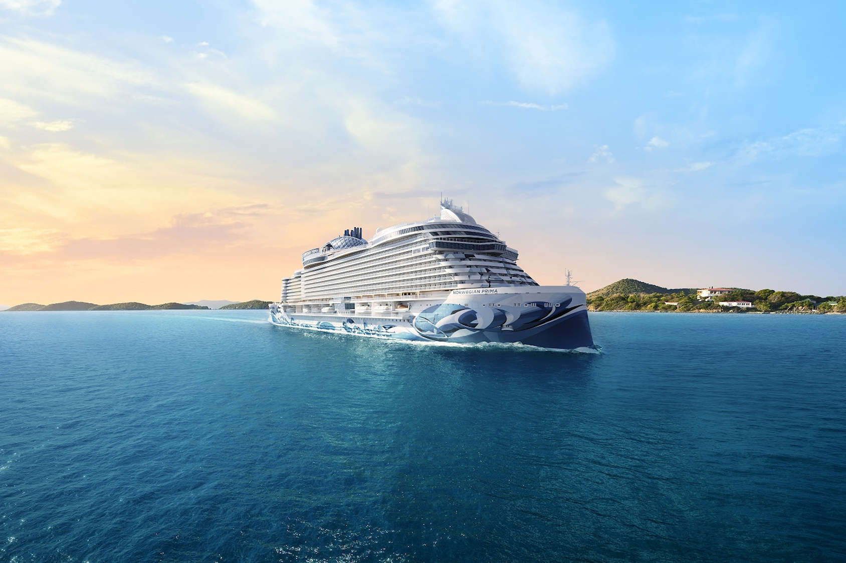 Norwegian Prima, the first in her class of six vessels, will be the industry's most spacious new cruise ship offering the most outdoor deck space and the most expansive accommodations of any new build.