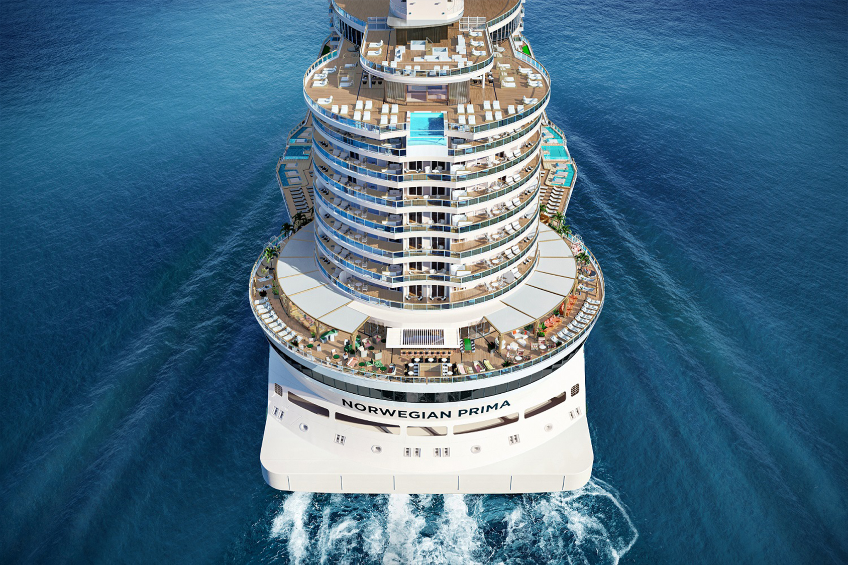 For the first time, the Cruise Line relocated all 107 Haven suites to the aft, providing endless ocean views and even more exclusivity.