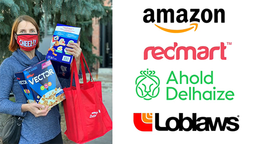 Kellogg partnered with our brands and retail customers to host online food drives.