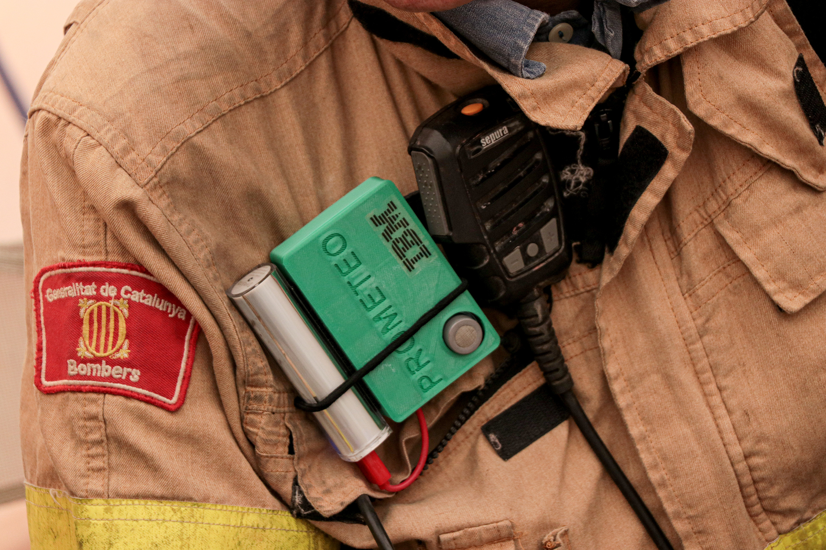 Prometeo's wearable device helps monitor firefighter safety in real-time and aims to help improve health outcomes in the long-term.