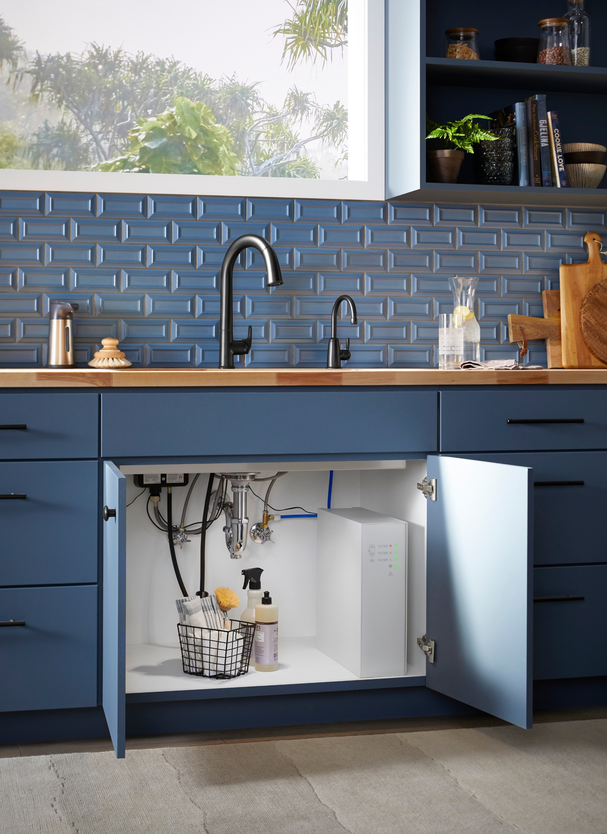 KOHLER Aquifer Refine water purification system can be easily installed into any kitchen, offering a convenient way to use the highest quality water every day at home.