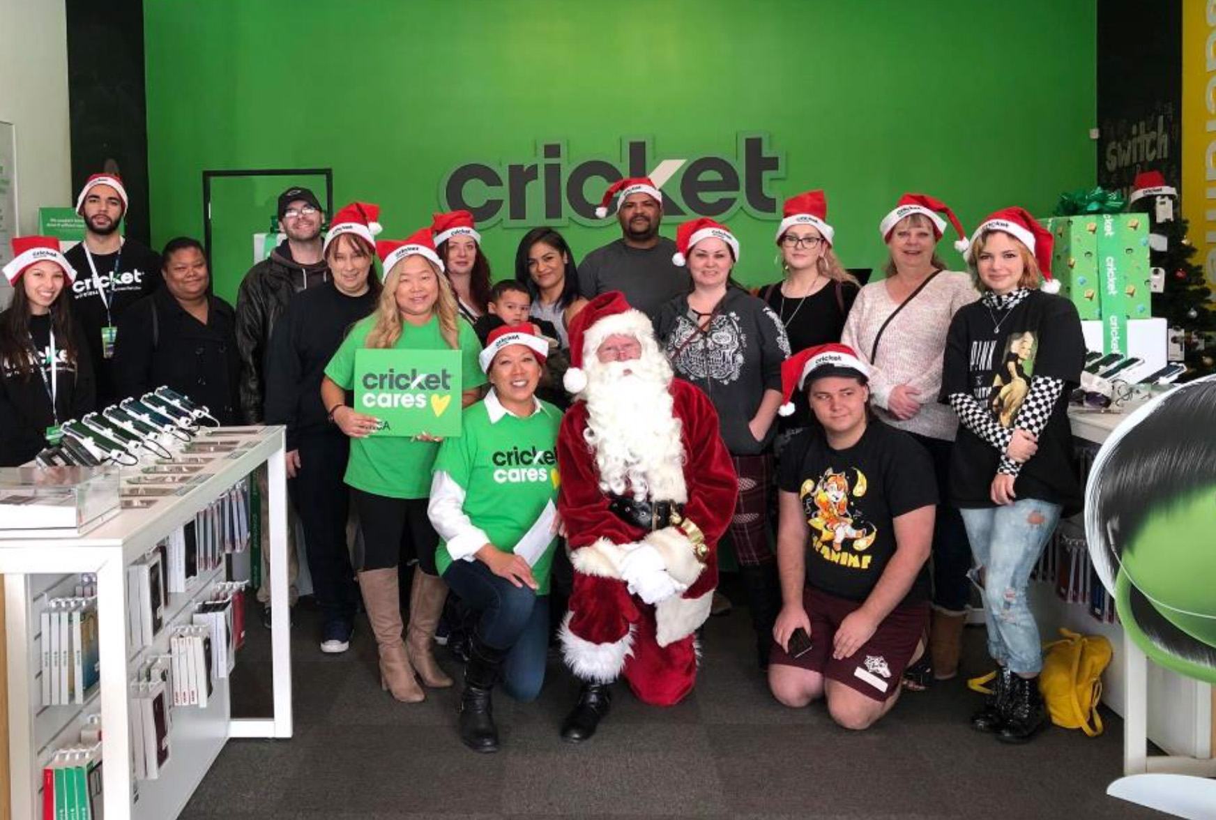 Winners in Sacramento joined Santa Claus and UFC Fighter Cynthia Calvillo for an in-store celebration.