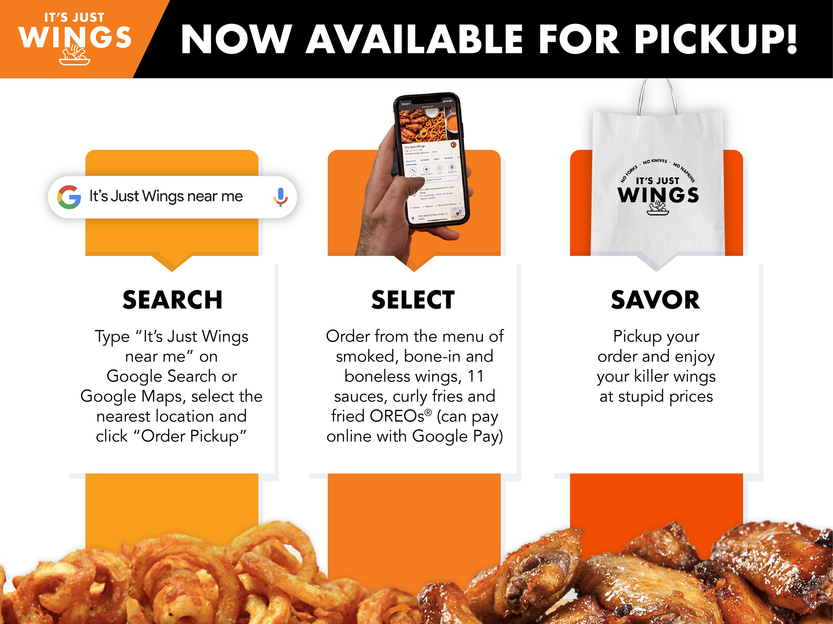Search, select and savor – it's that easy!