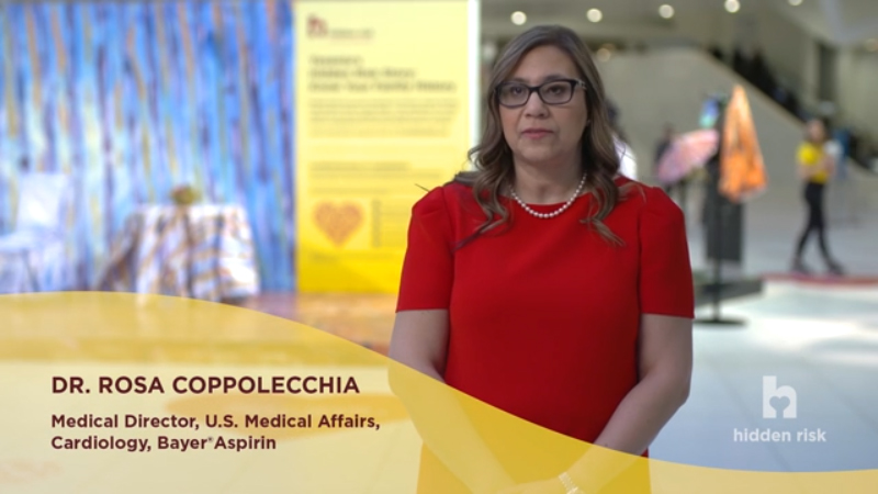 Bayer®Aspirin launches the Hidden Risk campaign in a once-in-a-lifetime event in one of the busiest places in the world asking one question: do you know your hidden risk for a heart attack?