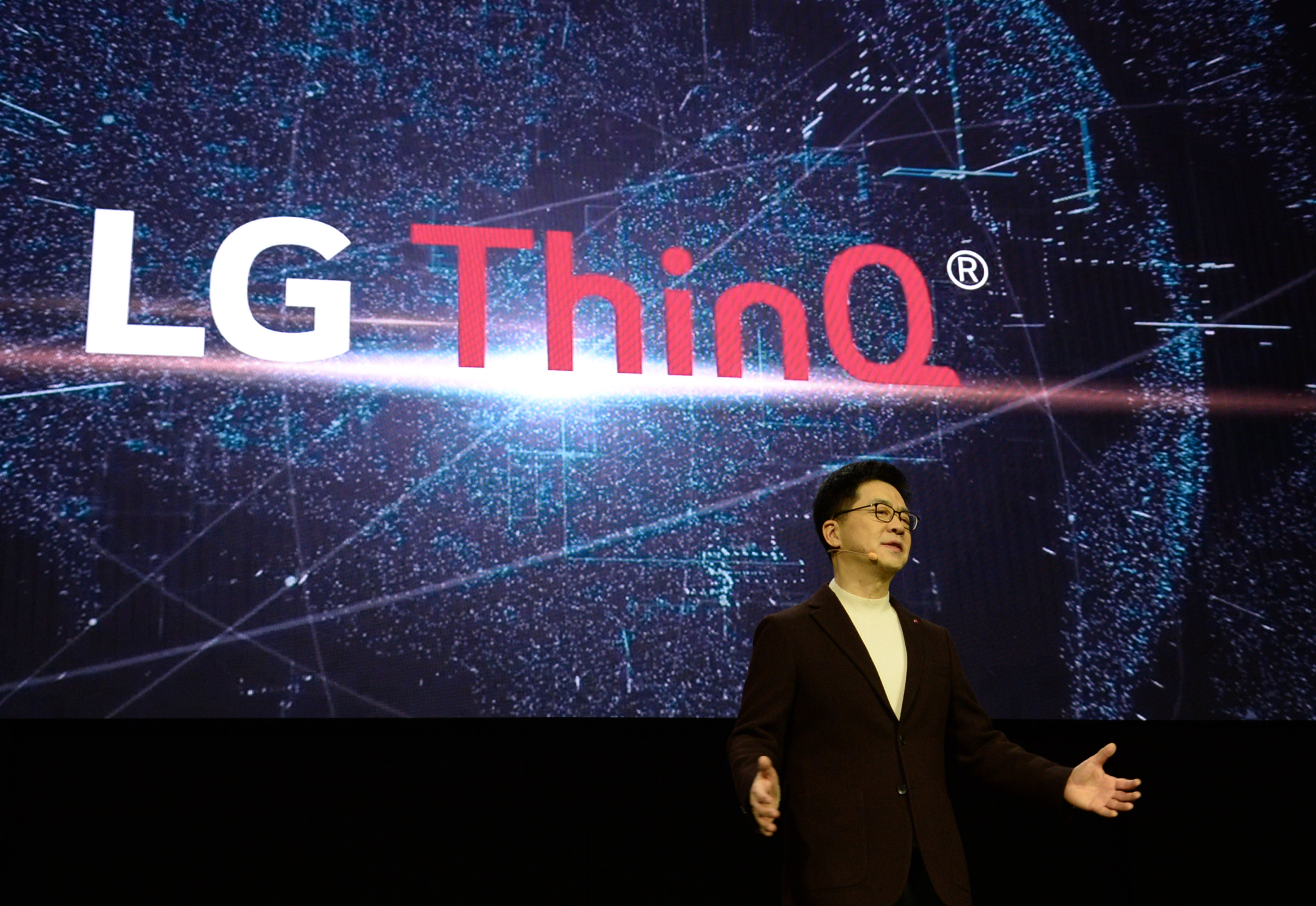 "LG Electronics President and CTO Dr. I.P. Park unveiled the framework for the future of AI development ""Levels of AI Experience: the Future of AI and the Human Experience"""
