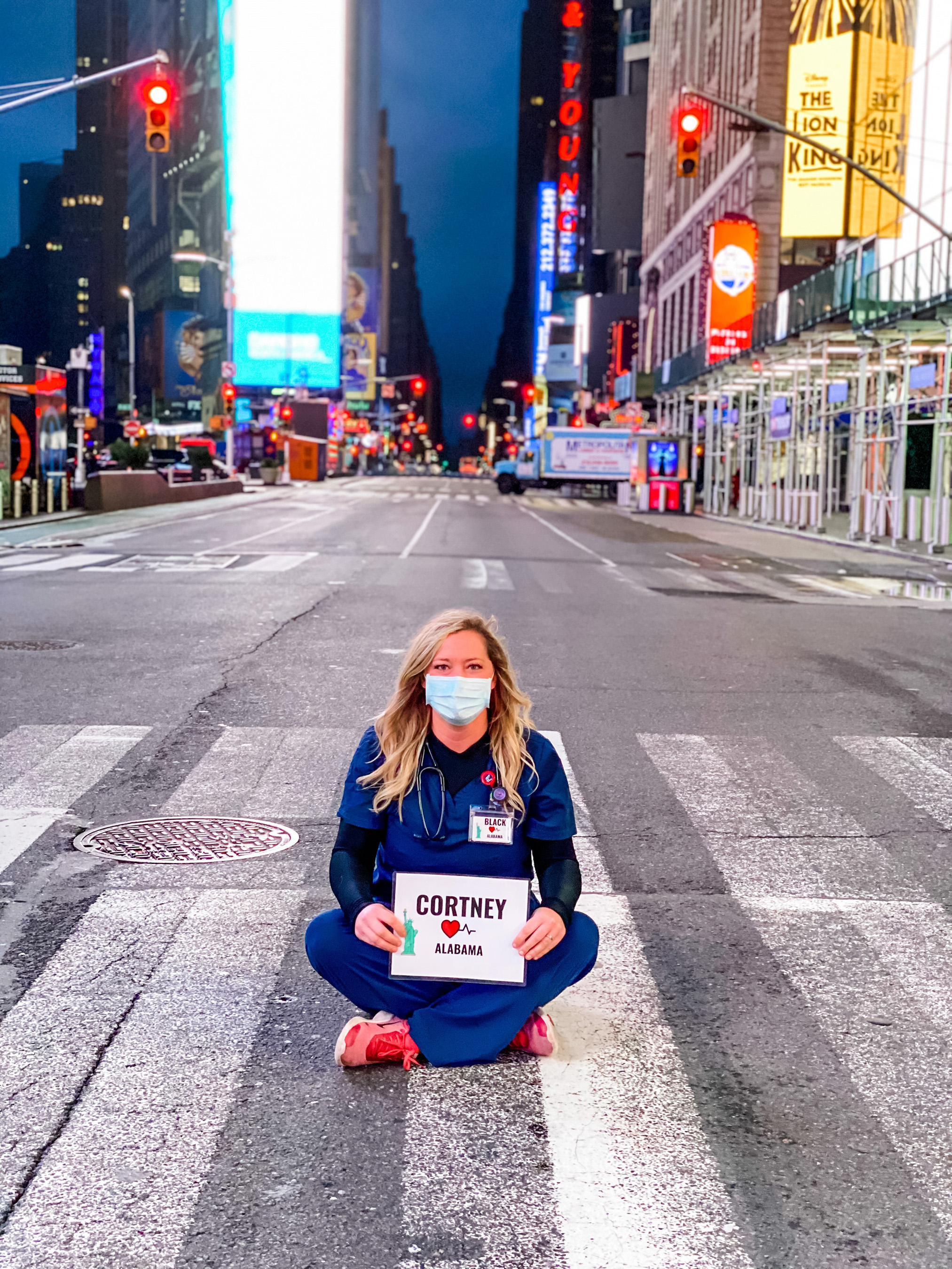Cortney Black, a 2016 alumna of the Auburn University School of Nursing, received permission from her Anniston, Alabama, ER to spend 21 days helping in New York.