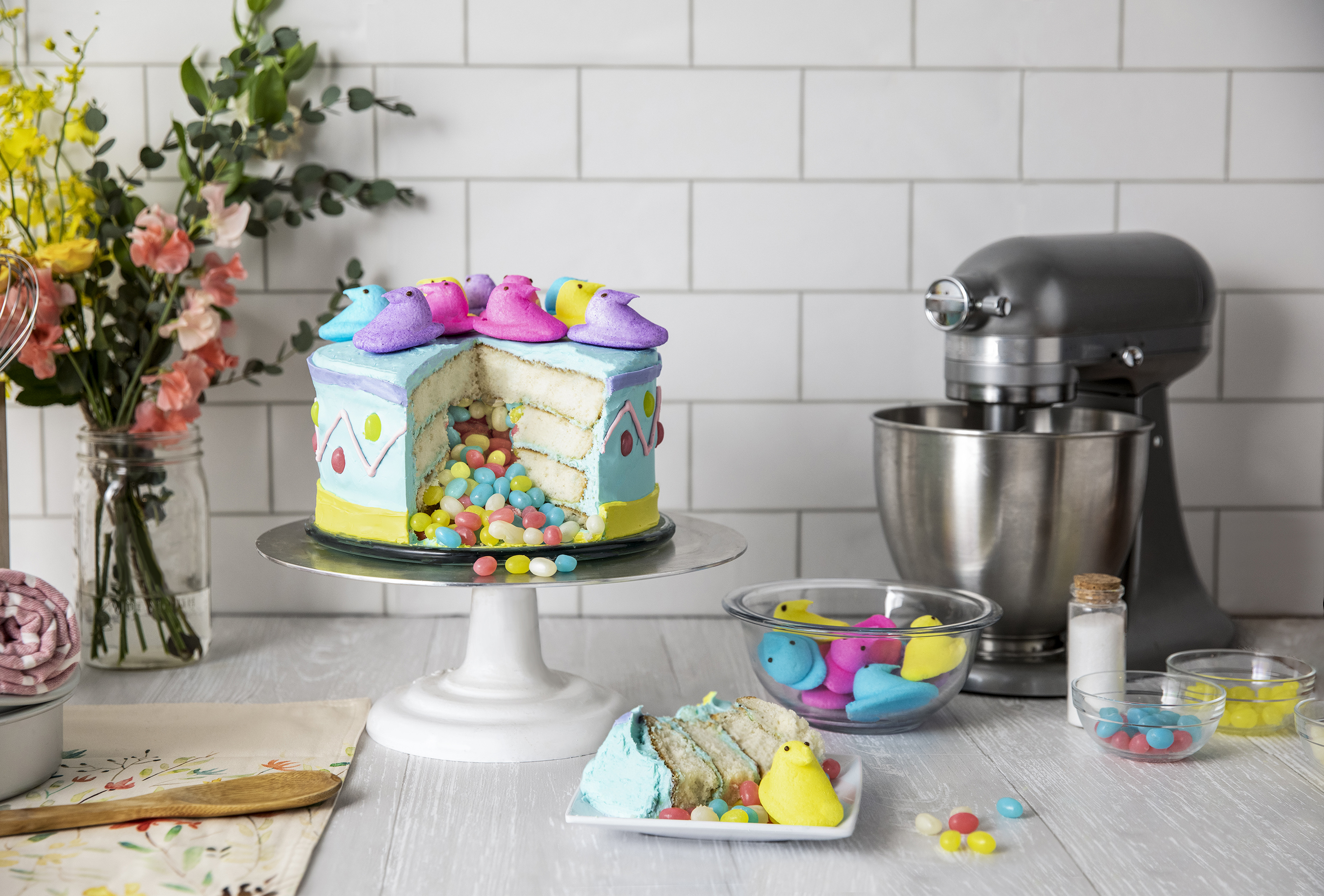 The PEEPS® Piñata Cake is one of many tasty PEEPS® Duncan Hines recipe collaborations coming this Spring