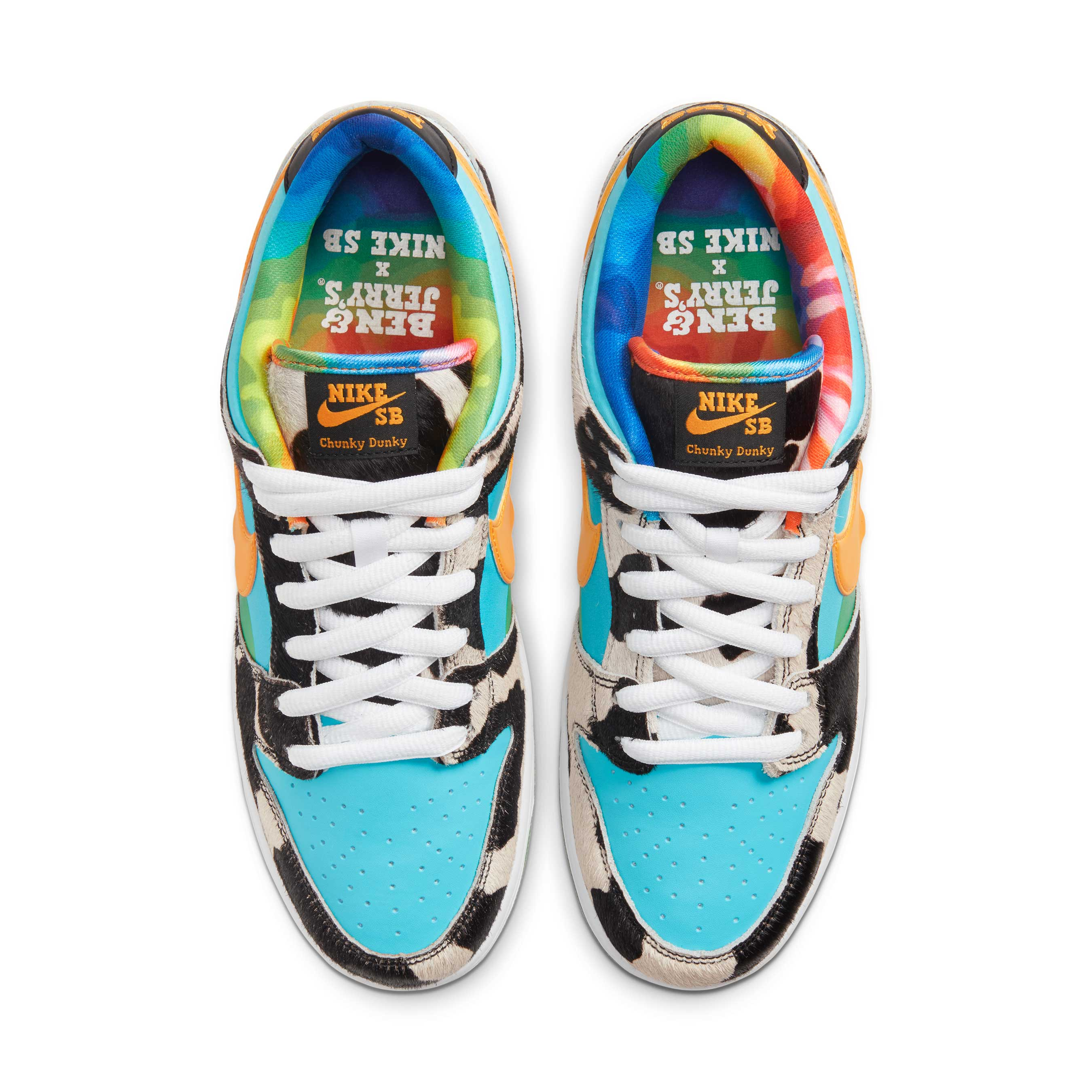 "NikeSB's new Ben & Jerry's inspired sneakers dubbed the ""Chunky Dunky."""