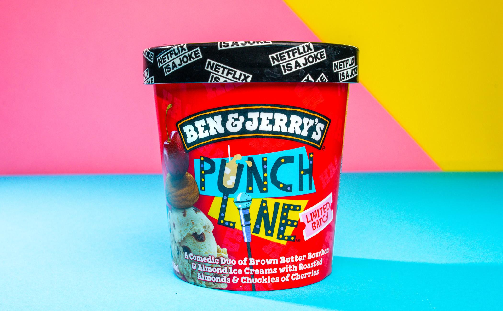 Ben & Jerry's Punch Line ice cream