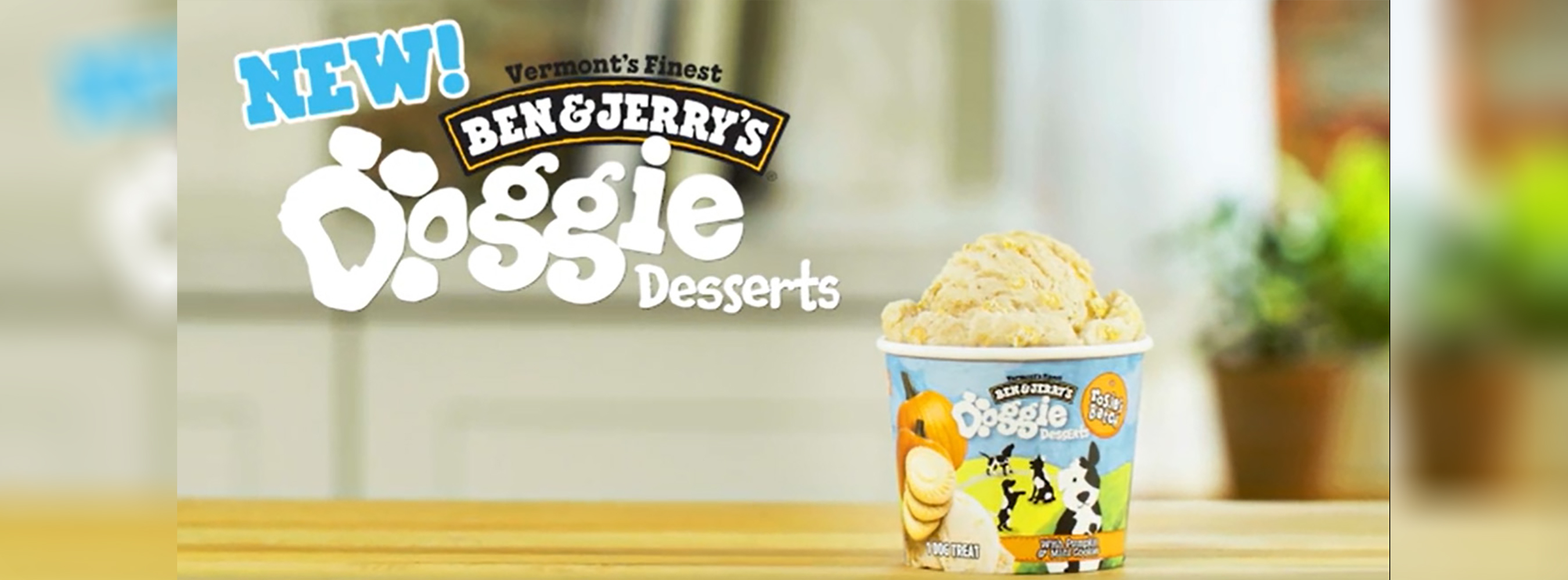 For the first time in the ice cream company's history, Ben & Jerry's is introducing two new flavors designed exclusively for canines--Doggie Desserts.