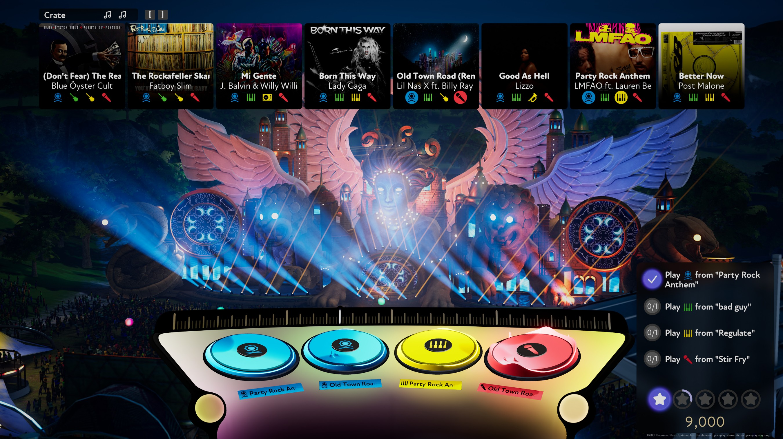 No peripheral or DJ experience required. Fuser's technology seamlessly blends loops, letting players show off mixing skills based on timing, freshness, and the ability to satisfy requests.