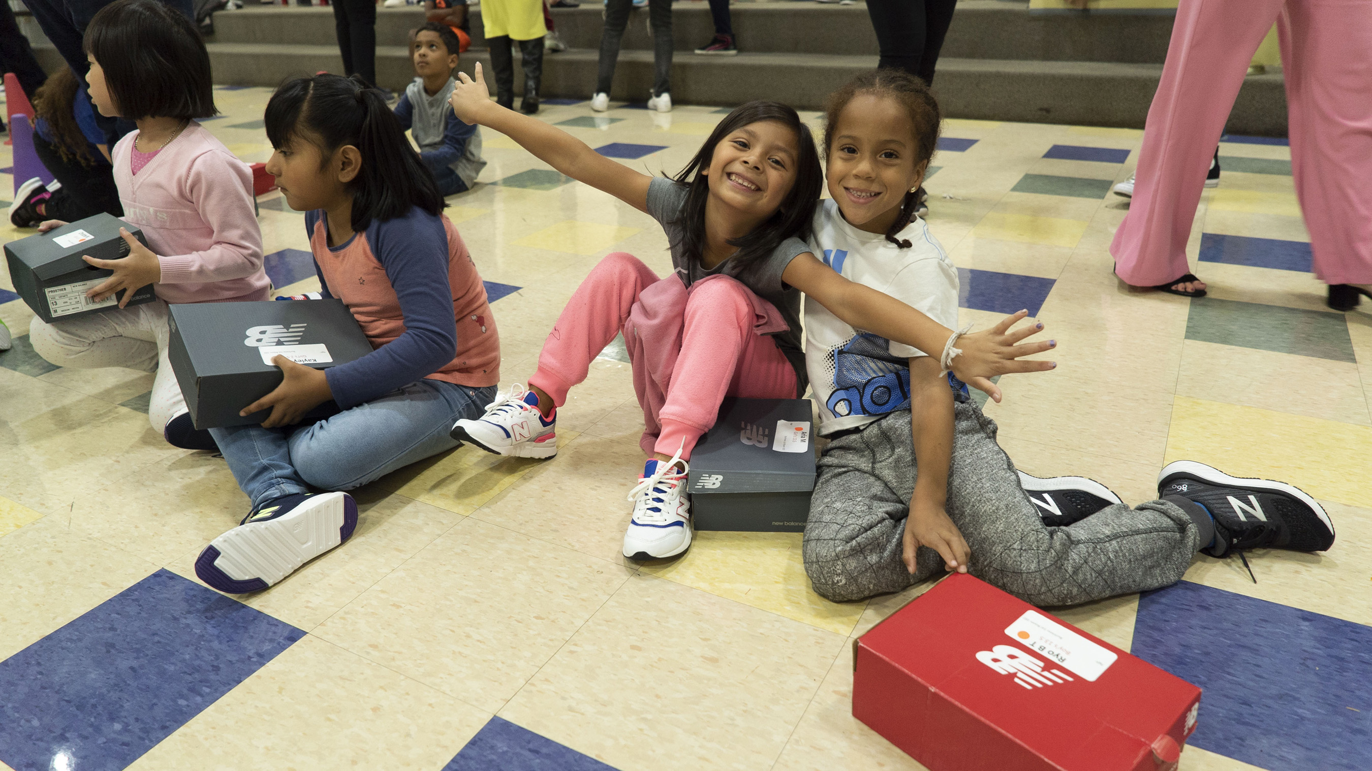 Kids at schools in 2019 are excited about their brand-new, properly-fitting shoes donated by Nordstrom in 2019.