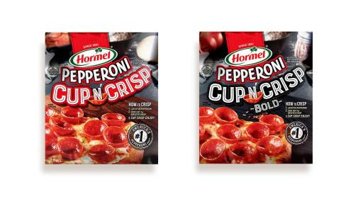 Hormel® Pepperoni Cup N' Crisp packaging