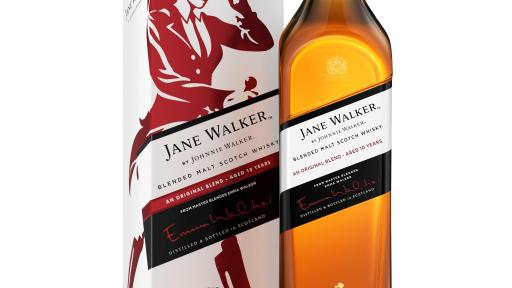 The new Jane Walker by Johnnie Walker from Master Blender Emma Walker is a Blended Malt Scotch Whisky aged ten years.