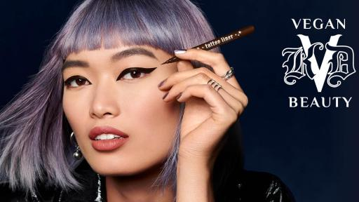 Model in Tattoo Liner Mad Max Brown in Cat Eyes For All Campaign