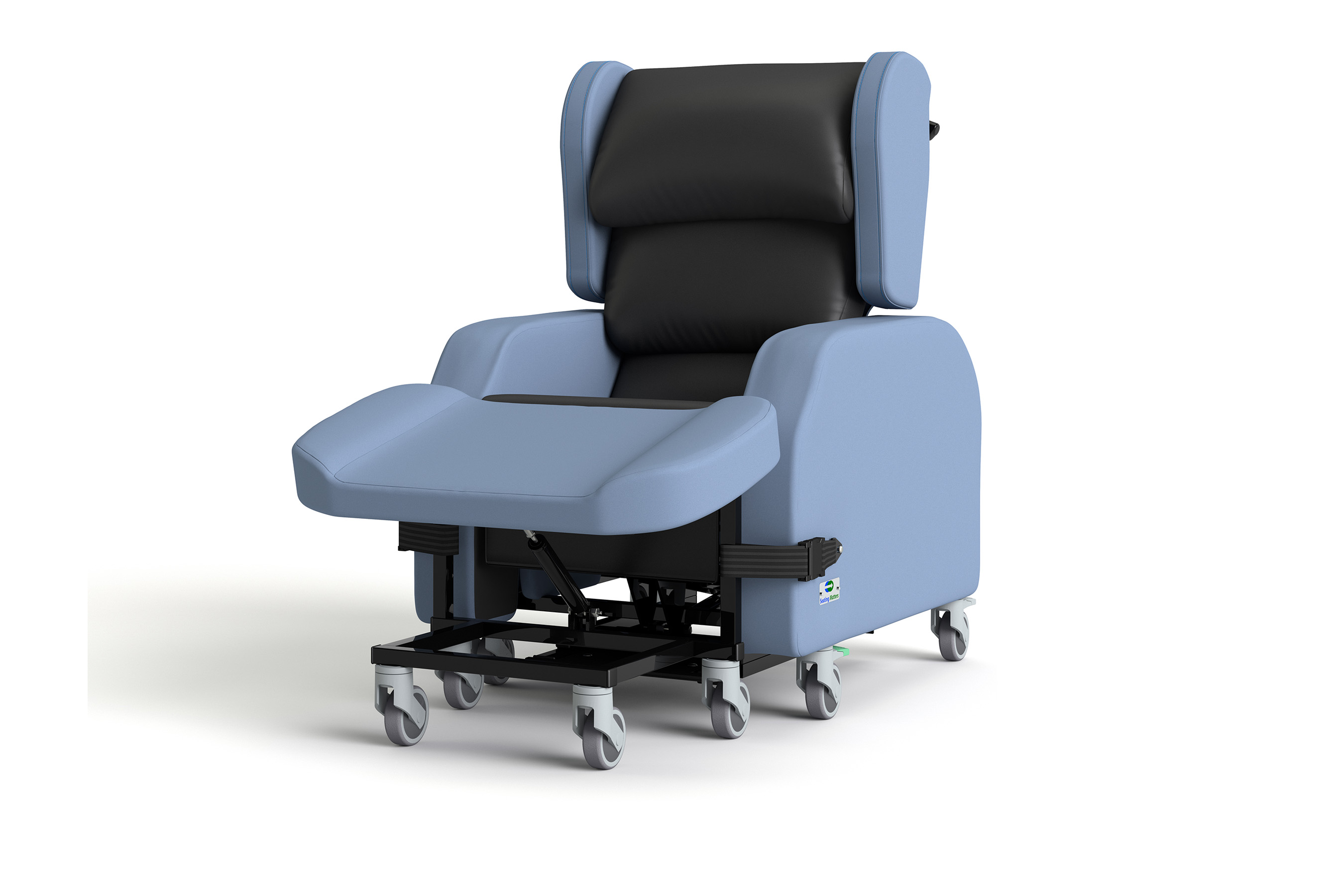 A robust and durable chair, Atlanta™ provides a safe and comfortable seat for those with vigorous involuntary movements. The Atlanta, designed for safety and security - with falls prevention in mind.