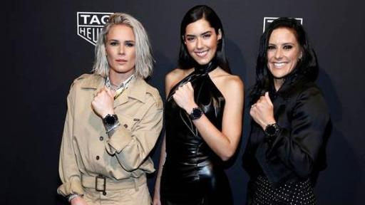 Ashlyn Harris, Paulina Vega and Ali Krieger attended the TAG Heuer Connected launch in NY on 12 March 2020