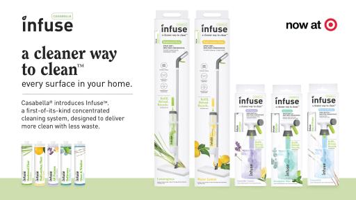 Casabella introduces Infuse, a powerful concentrated cleaning system designed to reduce waste, and provide an effective way to clean every surface in your home.