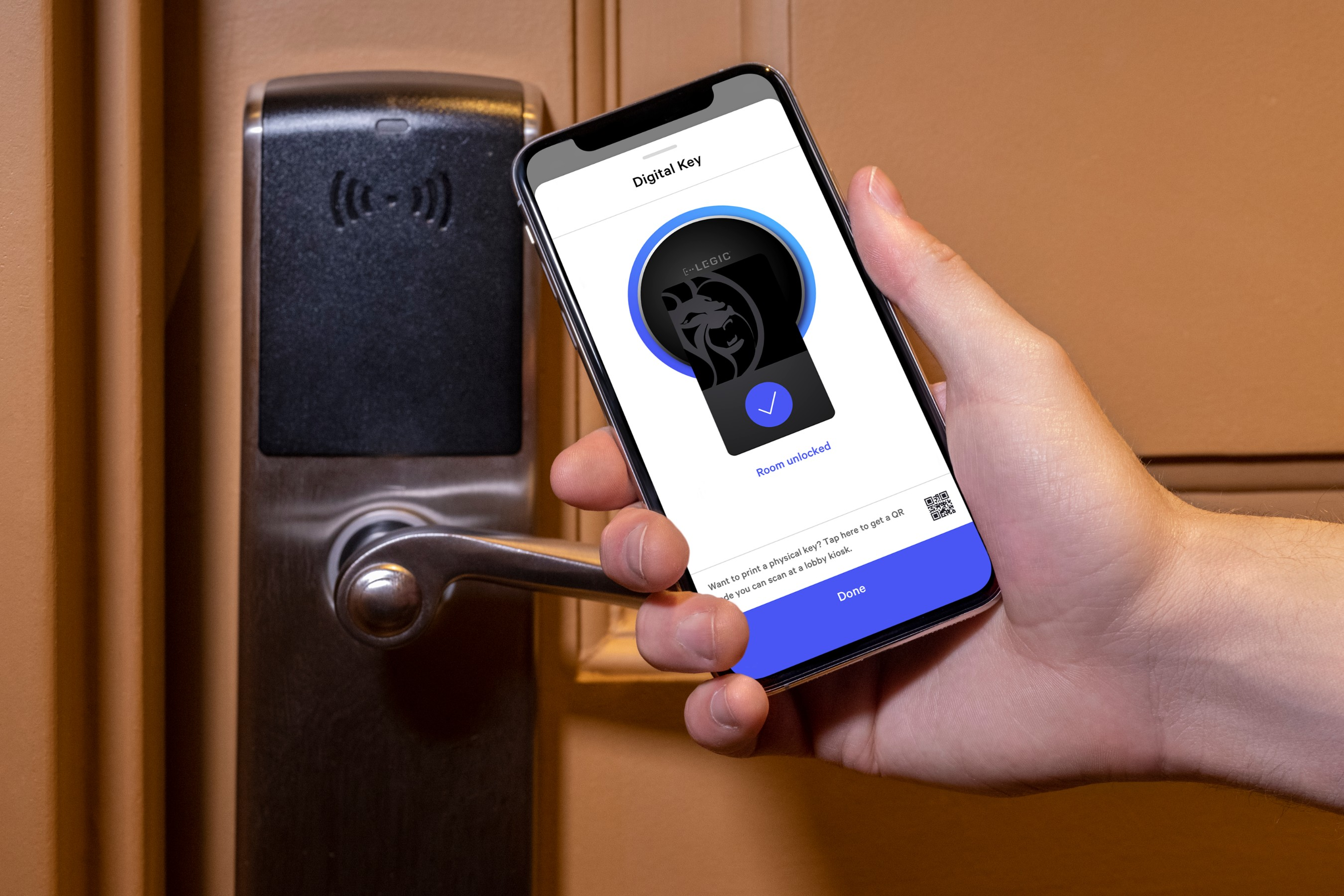 One of MGM Resorts' digital innovations is the option for guests to have a contactless check-in experience through the MGM Resorts' app, including payment, identification and a digital room key.