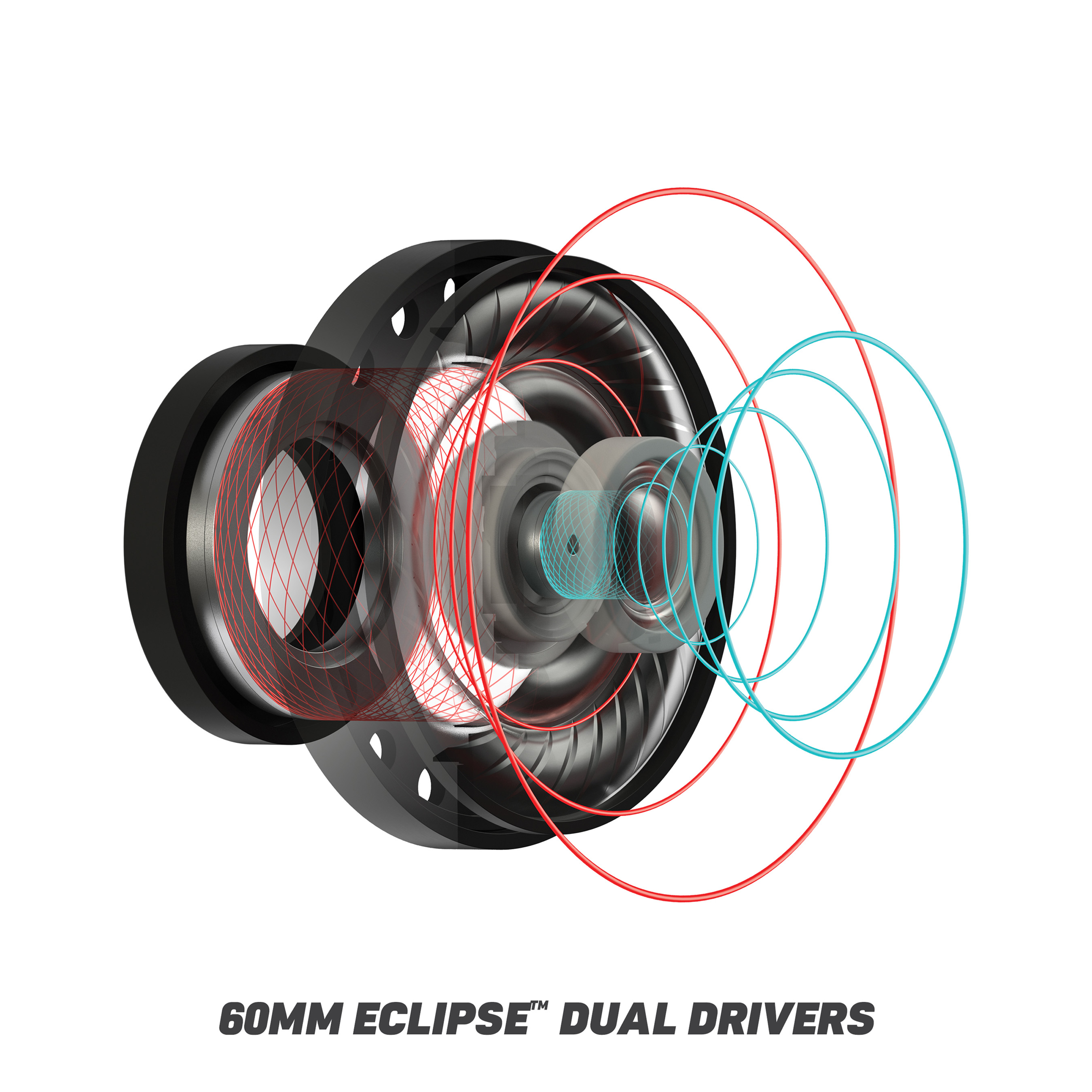 Turtle Beach's patented, first-of-their-kind 60mm Eclipse™ Dual Drivers deliver unprecedented sound quality at every frequency.