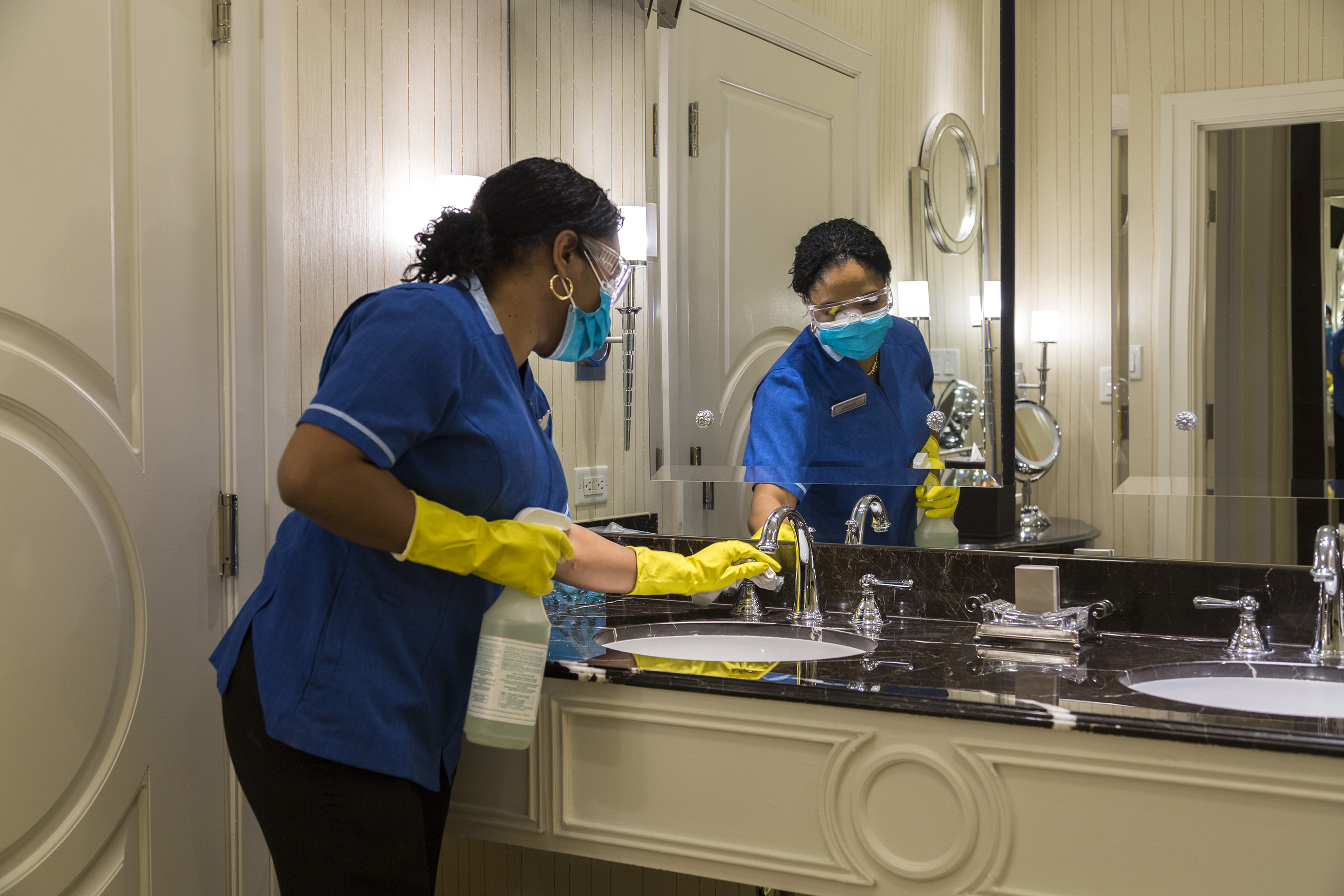 """Our already stringent cleaning and disinfecting protocols have been upgraded to reflect current guidelines. Disinfectants (which are EPA registered for emerging viral pathogens) are used to clean guest suites, including """"high-touch"""" items."""