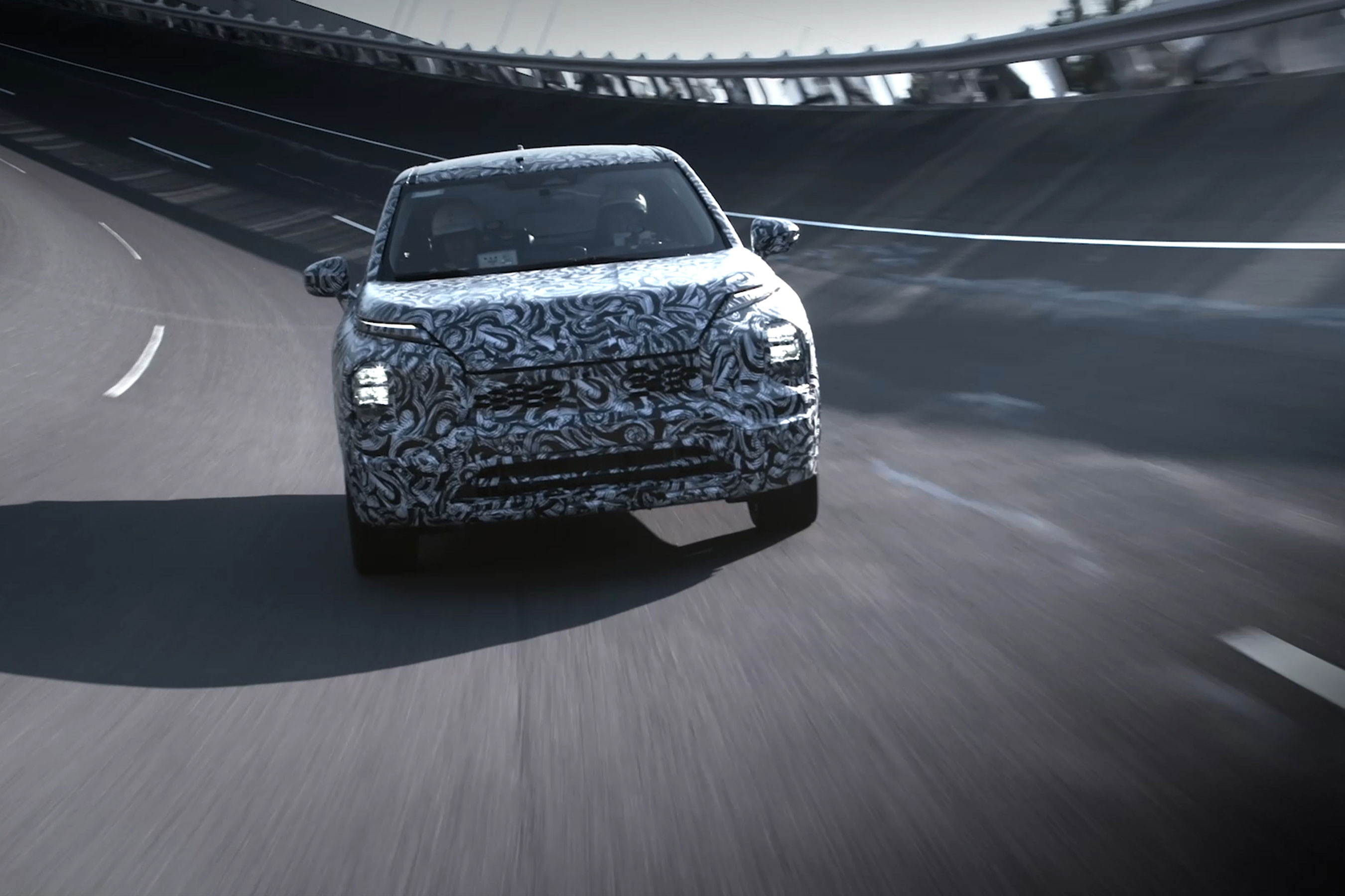Mitsubishi Motors provides exclusive look at the all-new 2022 Outlander undergoing final testing.