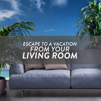Escape to a vacation from your living room with Aloha at Home.