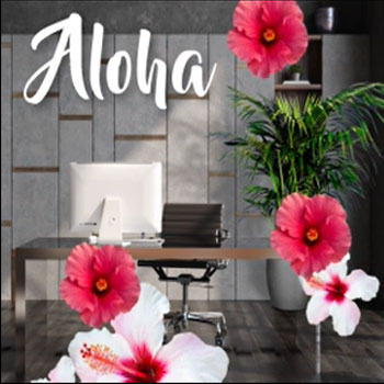 Add instant style with Aloha at Home.