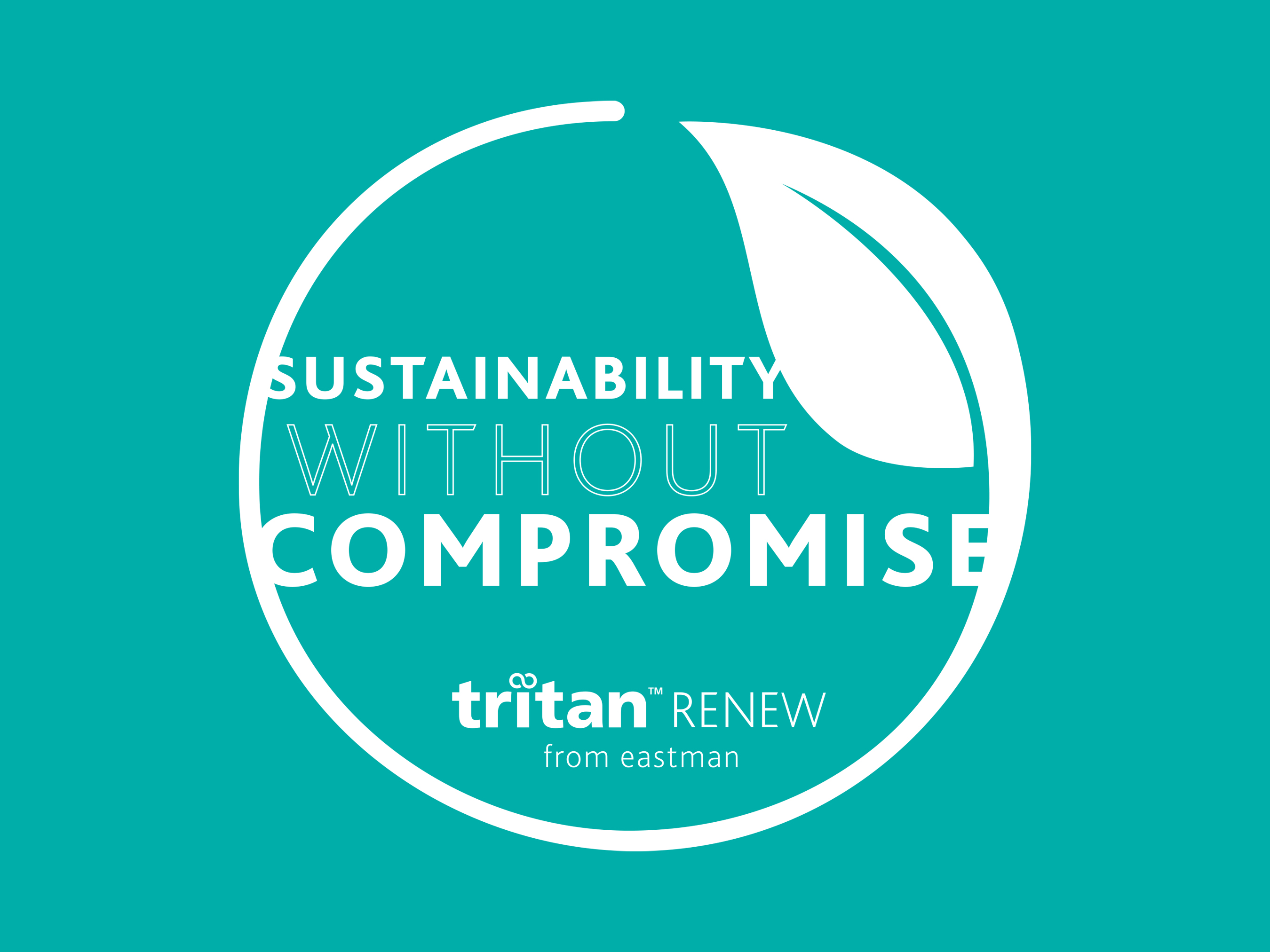 Tritan Renew offers sustainability without compromise, providing the same durability, performance and safety of original Tritan but now with up to 50% recycled content derived from waste plastic.