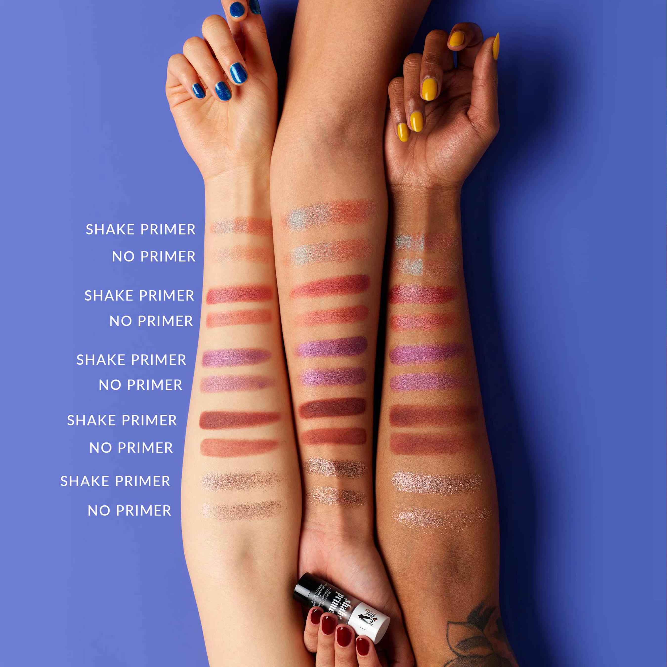New KVD Vegan Beauty Shake Vegan Eyeshadow Primer Swatches