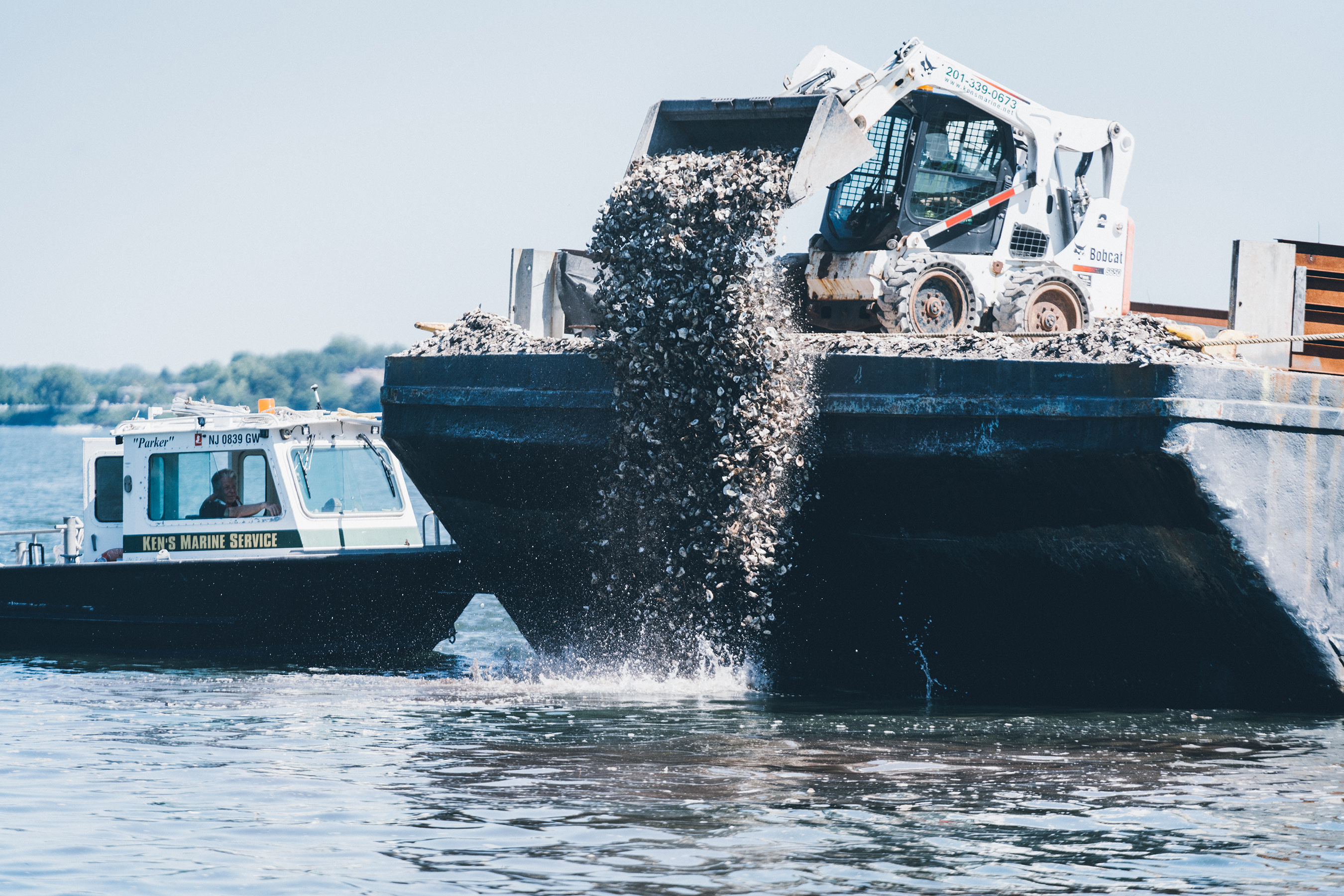 This summer, Billion Oyster Project will deploy over 500,000 pounds of oyster shells and 30 million oysters set on shells within 200 gabion reef structures at the mouth of the Bronx River in Soundview. This project alone has more than doubled their restoration impact in New York Harbor. #ShuckFromHome. Photo Credit: Jose Silva
